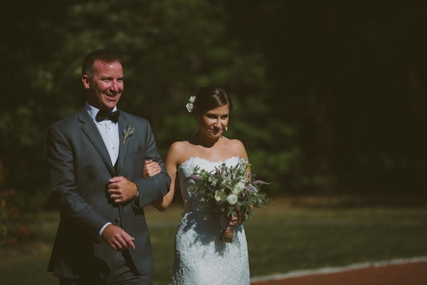 Bride walking down the aisle with her father!