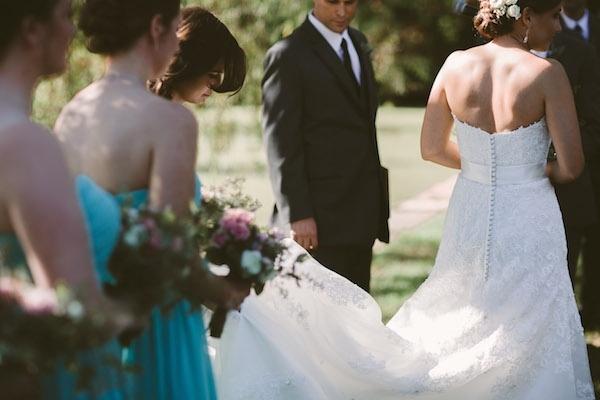Beautiful wedding dress with train!