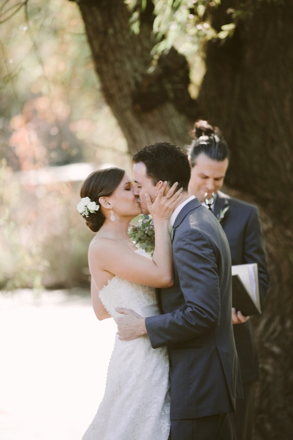 First kiss as husband and wife!