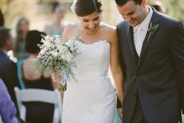 Husband and wife walking down the aisle!