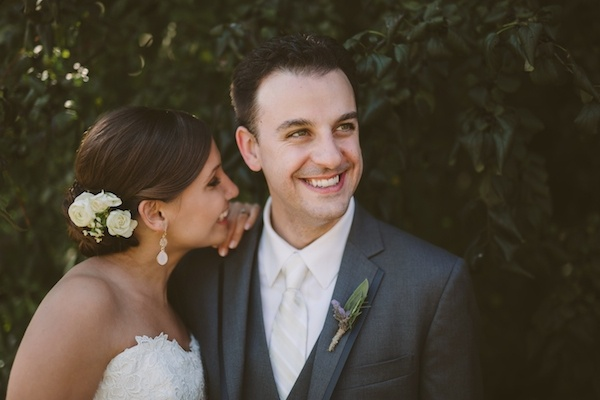 Adorable bride and groom at their wedding!