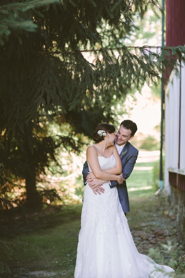 Bride and groom on their wedding day!
