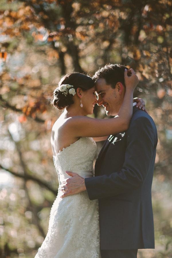 Very sweet bride and groom wedding photo