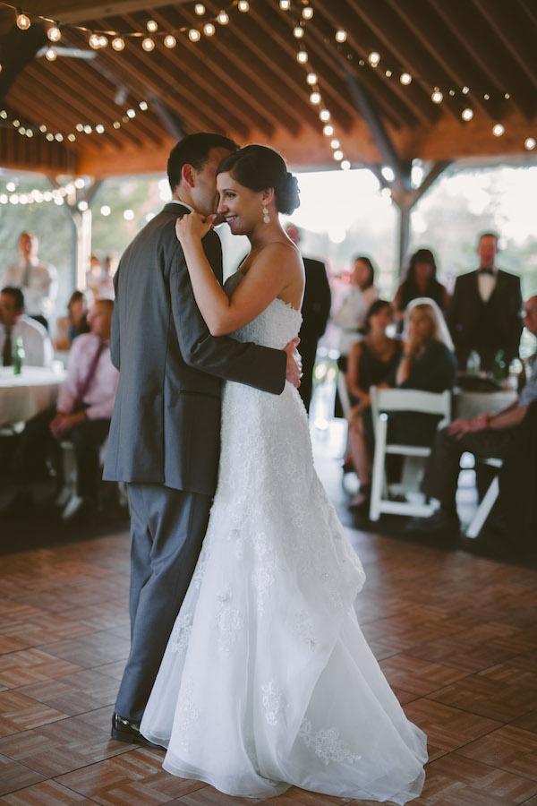 Lovely first dance between bride and groom!