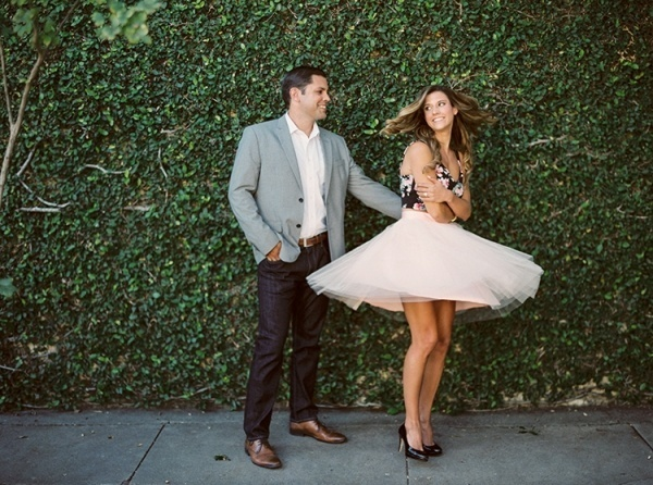Twirling for your engagement photos is a must!