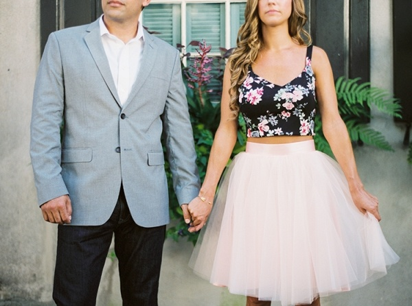 Engagement photos with serious style. Love her pink tulle skirt!