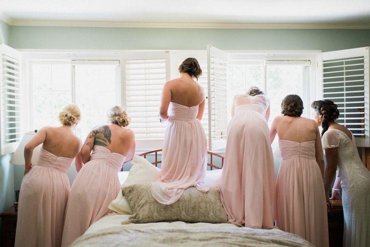 Pink bridesmaid dress idea