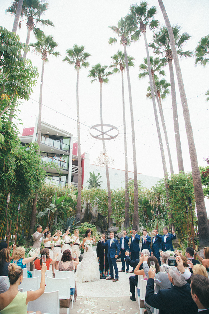 colorful and quirky long beach wedding