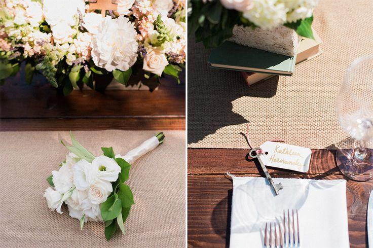 Backyard wedding ceremony decor