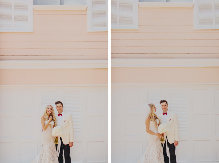 Bride and groom portraits. So retro and adorable!