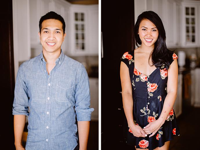 Adorable engagement photo portraits