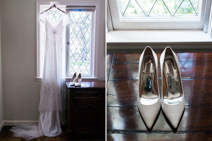 Wedding dress & wedding shoes