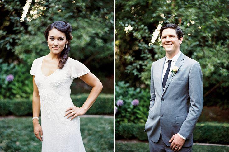 Bride and groom wedding portraits.