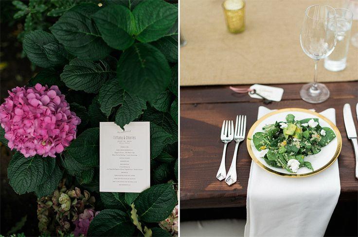Backyard wedding dinner