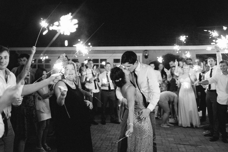 Sparkler exit for the bride and groom