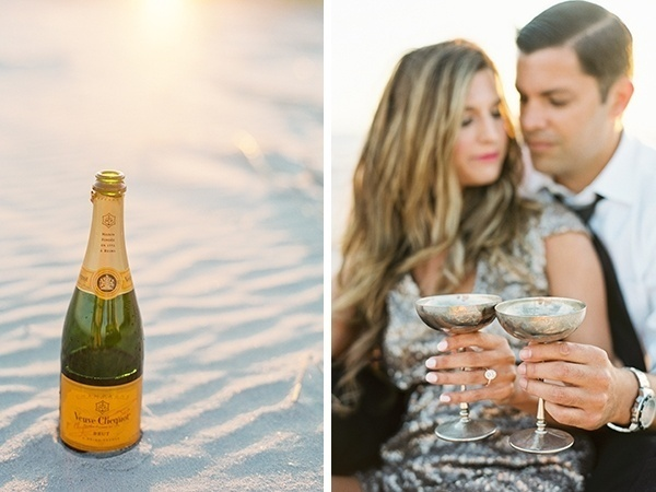 Pop champagne for your engagement photos!