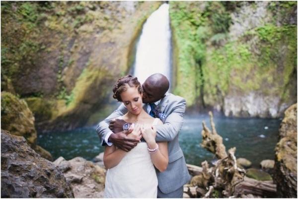 Lovely snoqualmie falls wedding. Wedding photography by Marissa Maharaj.