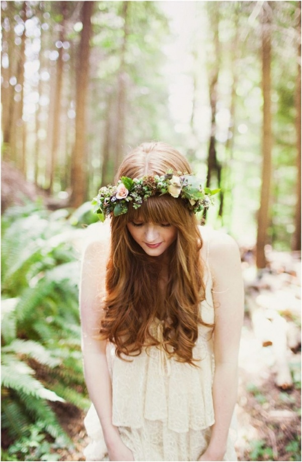 Totally gorgeous boho bride with flower crown.  Photo courtesy of Marissa Maharaj.