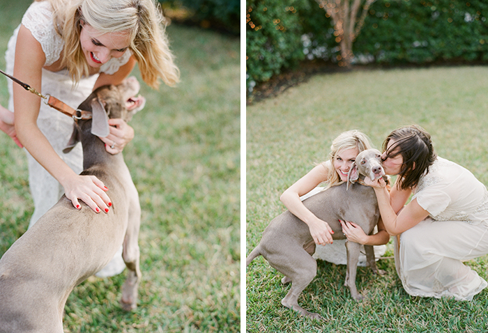 Brides and their furry best friend!