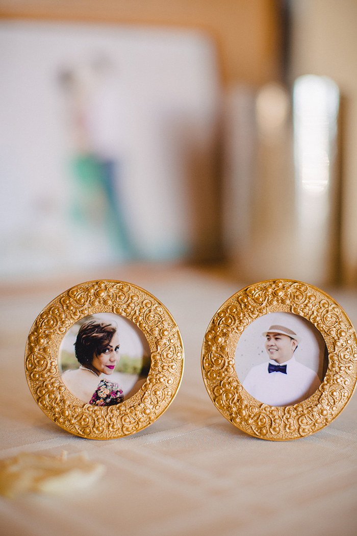Sweet vintage frames for the wedding day