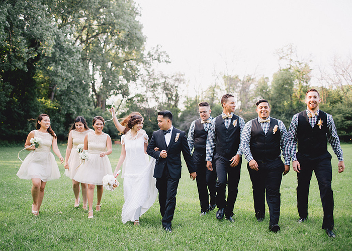 Vintage bridal party style