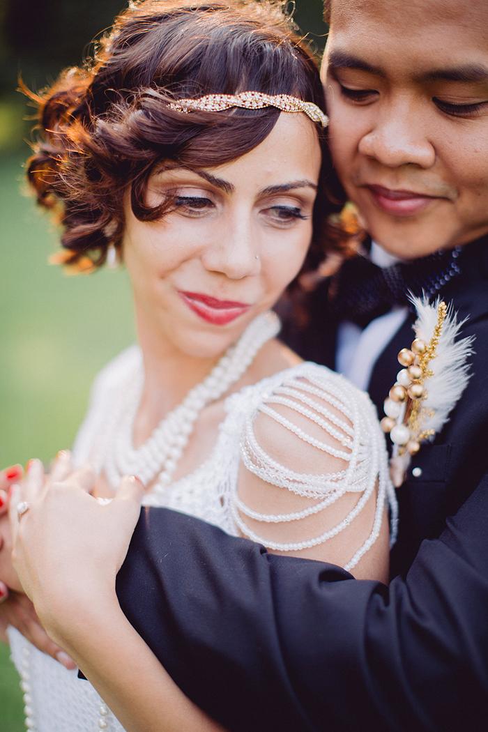 Gorgeous vintage bridal beauty