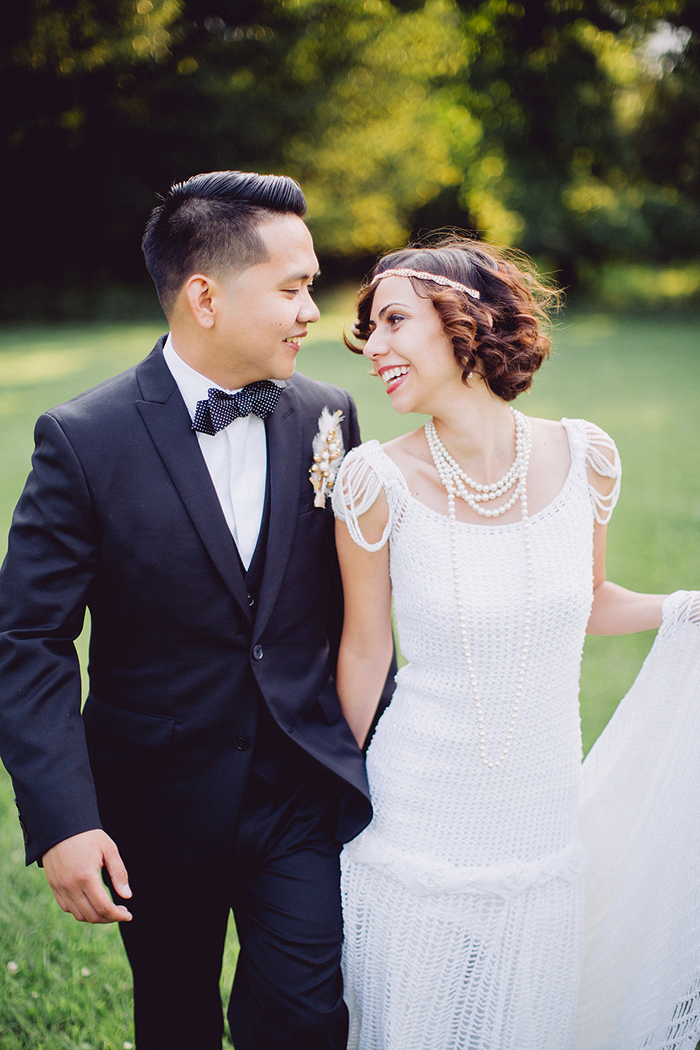 Gatsby inspired wedding style