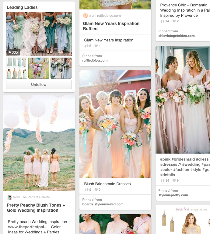 Awesome bridesmaid pinterest board