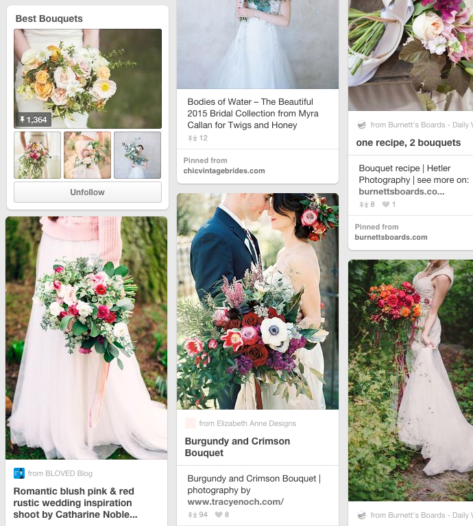 Awesome wedding bouquet pinterest board