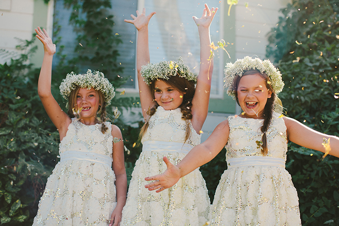 Adorable boho flower girls