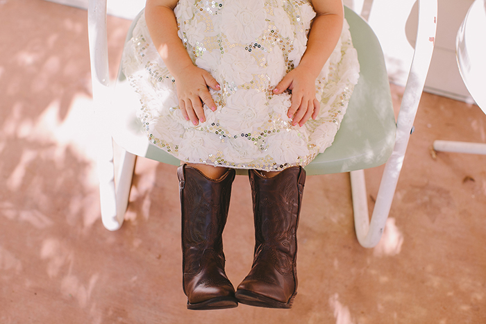 Sweet flower girl dress and cowboy boots!