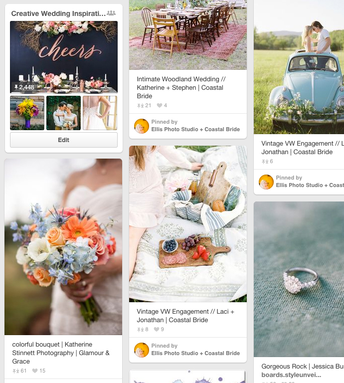 Best wedding bloggers colab board on Pinterest