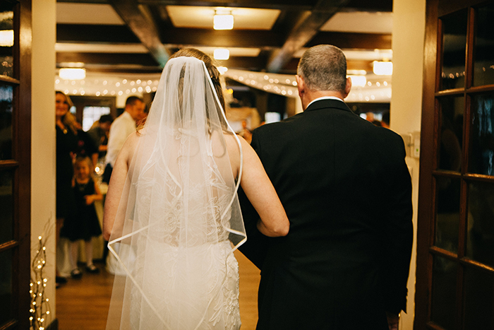 The bride and her father entering the ceremony