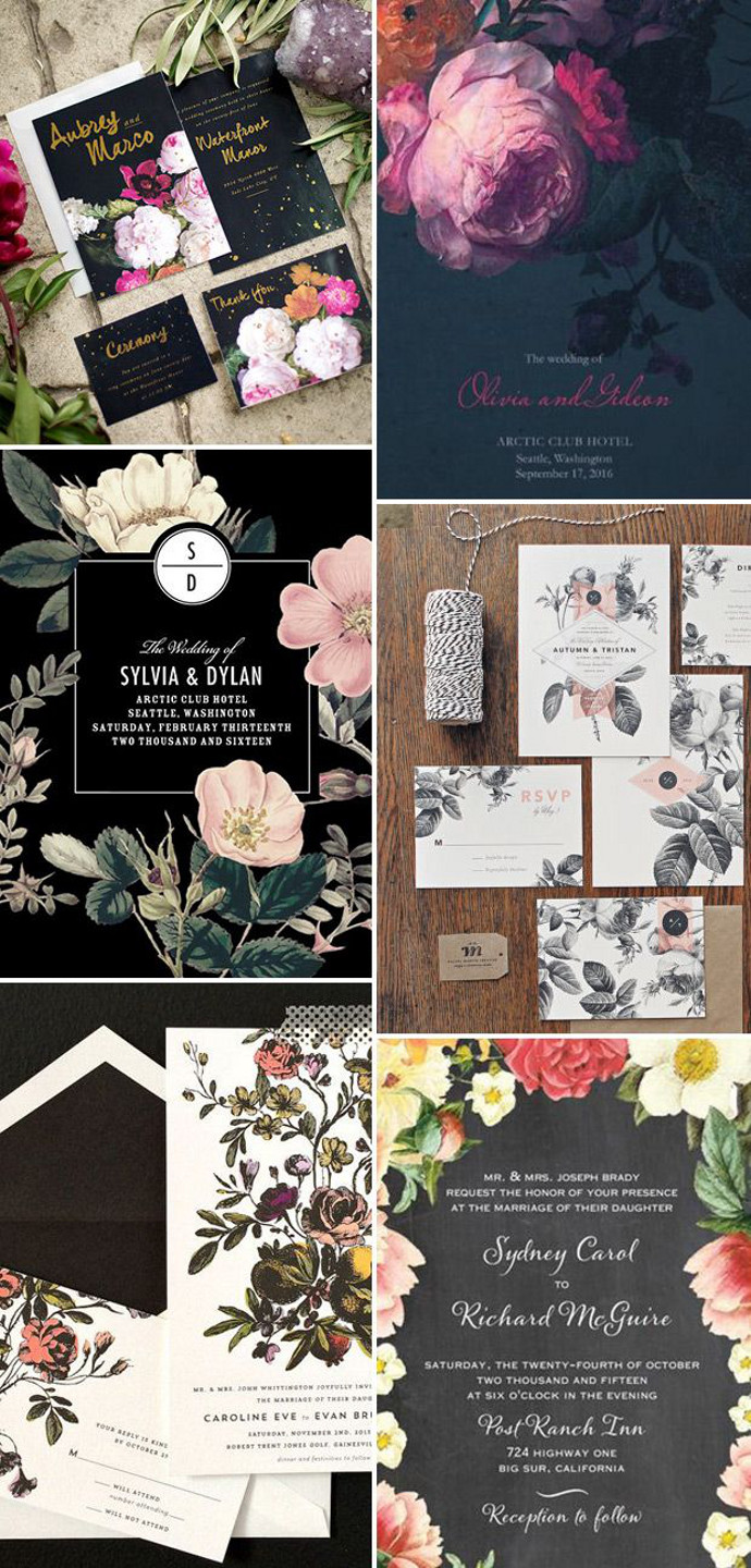 Photo by Clockwise:  West End Girl ,  Oh So Beautiful Paper ,  Wedding Paper Divas ,  Rachel Marvin Creative ,  Hello Ten Fold ,  Wedding Paper Divas