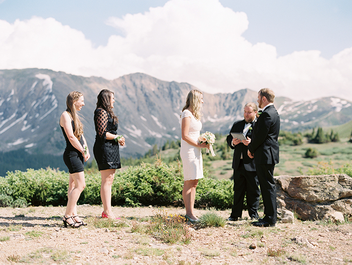 Wedding elopement on the mountain
