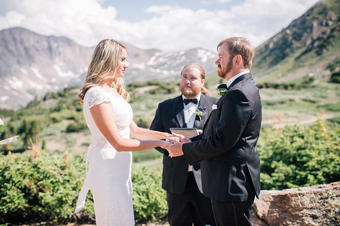 Beautiful mountainside elopement in Denver