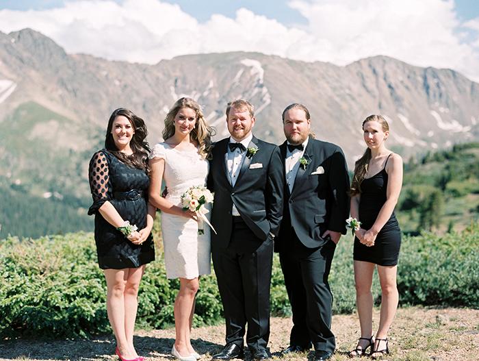 Wedding portrait photo bridal party