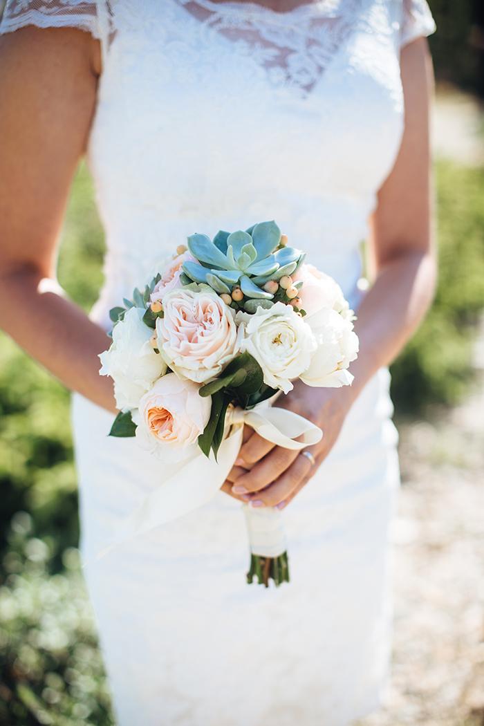 Bridal succulent bouquet