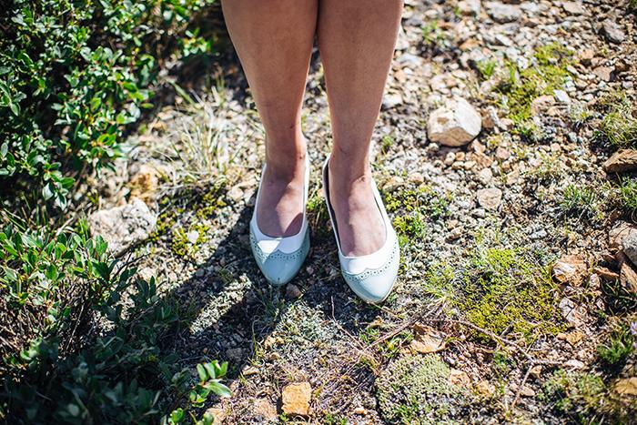 Bridal mint flat shoes
