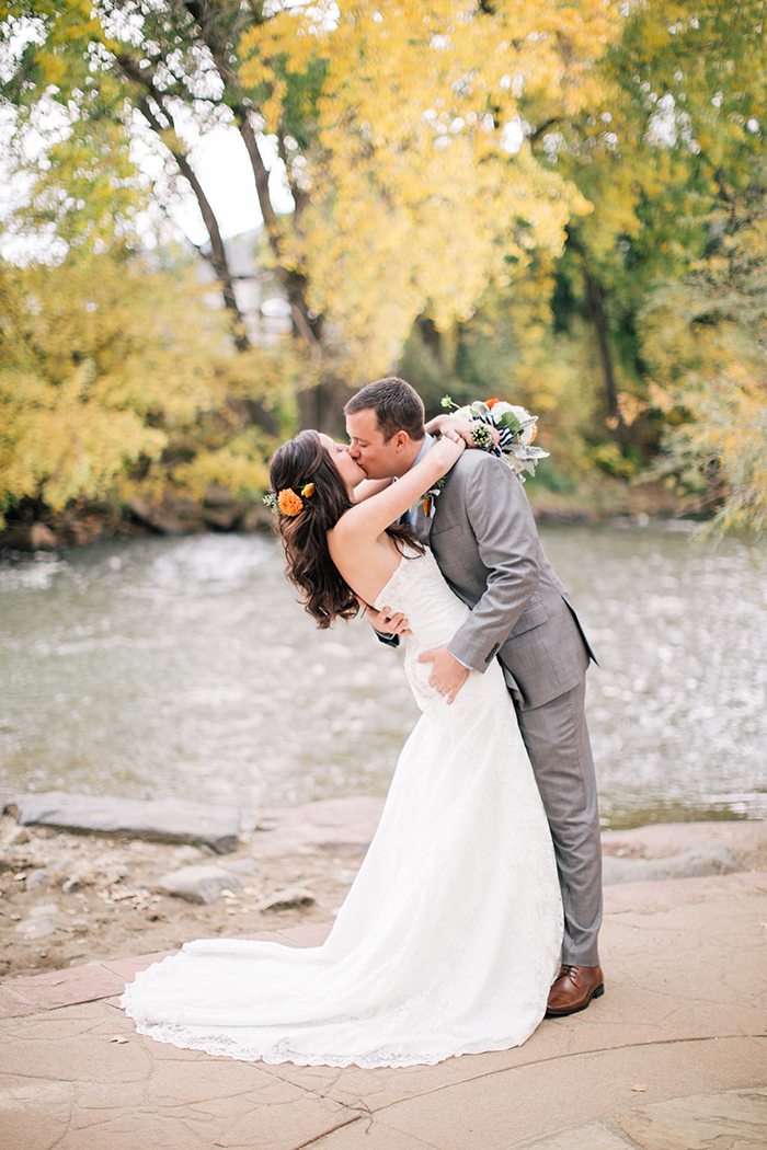Rustic fall wedding photo