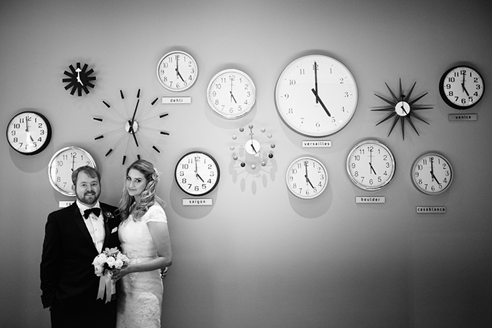 Wedding elopement photo by fun clocks