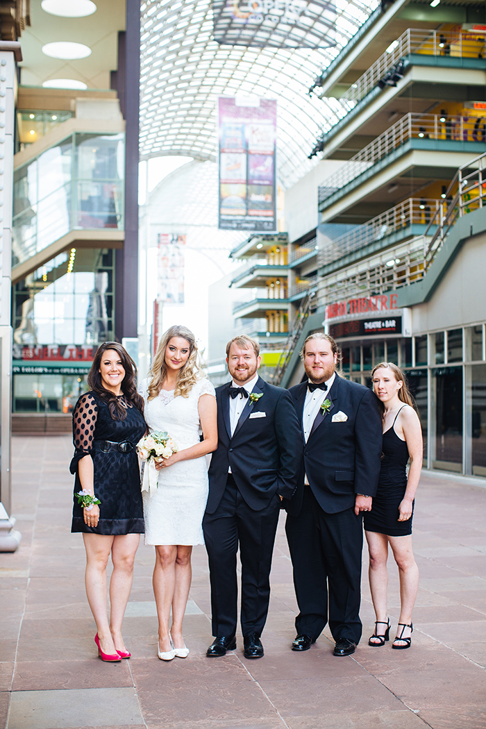 Bridal party for a small elopement
