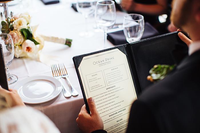 Gorgeous wedding restaurant elopement