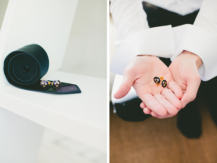 The groom's accessories