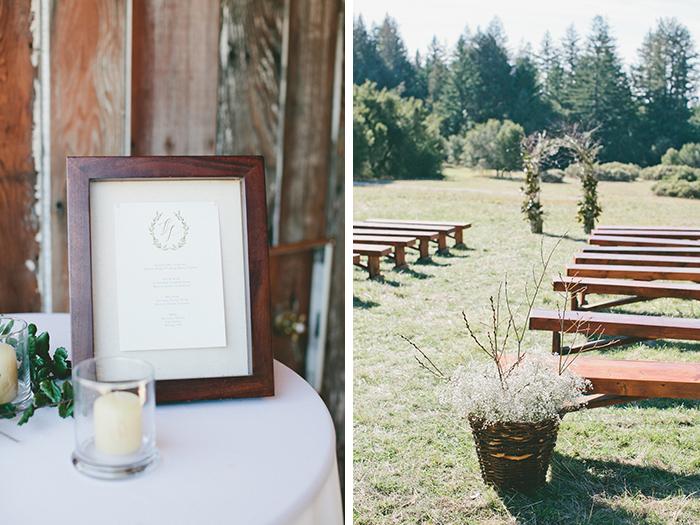 Wedding ceremony details and decor