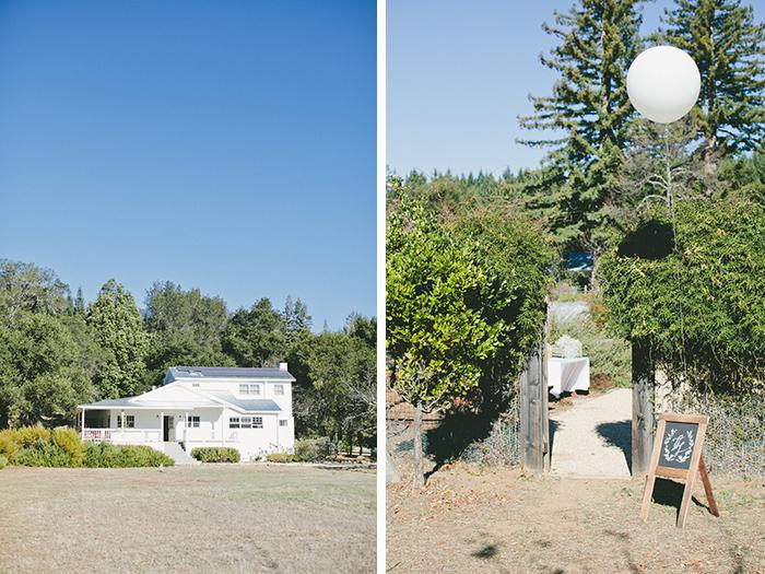Rustic wedding venue in California