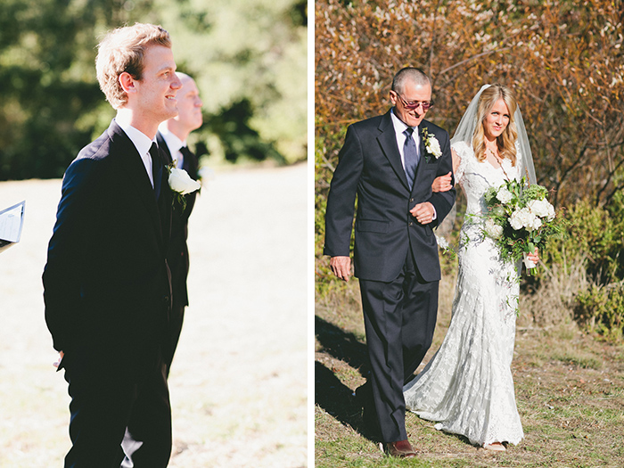 The beginning of the wedding ceremony