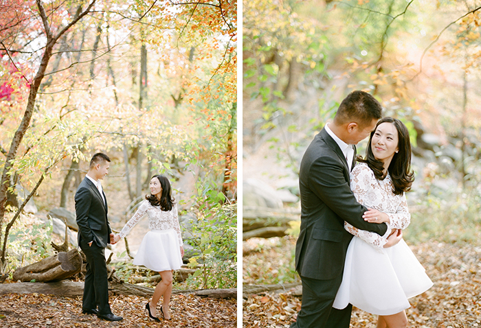 Beautiful idea for a fall engagement shoot
