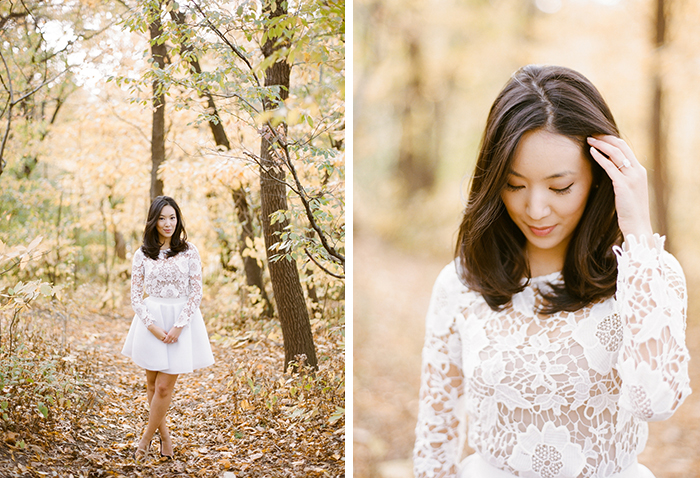 Love this bride-to-be's super chic engagement outfit