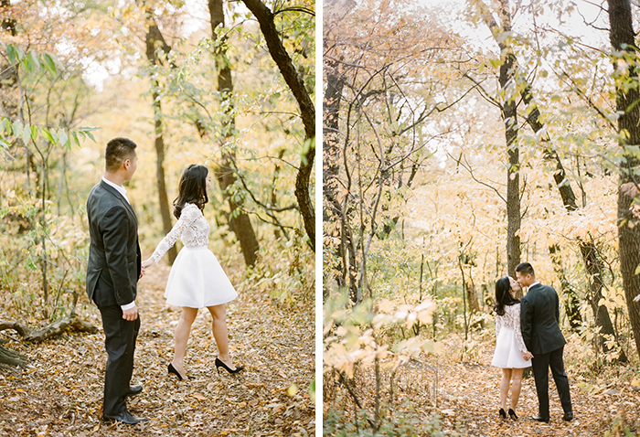 Stunning fall engagement photos in New York's Central Park.